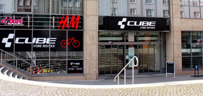 CUBE Store Rostock Bild Aussenansicht