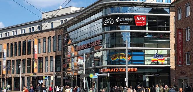 CUBE Store Schwerin Bild Aussenansicht